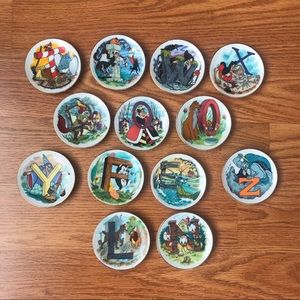 The Disney Alphabet collection mini plates